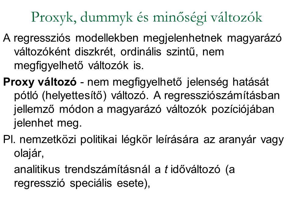 Proxyk, dummyk és minőségi változók