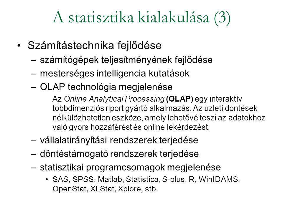 A statisztika kialakulása (3)