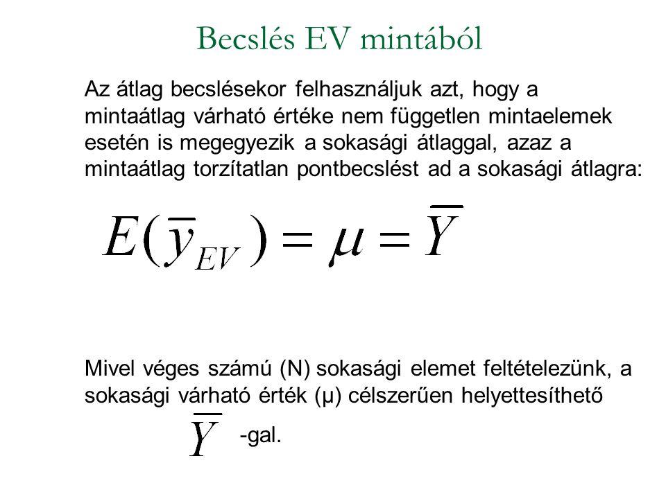 Becslés EV mintából