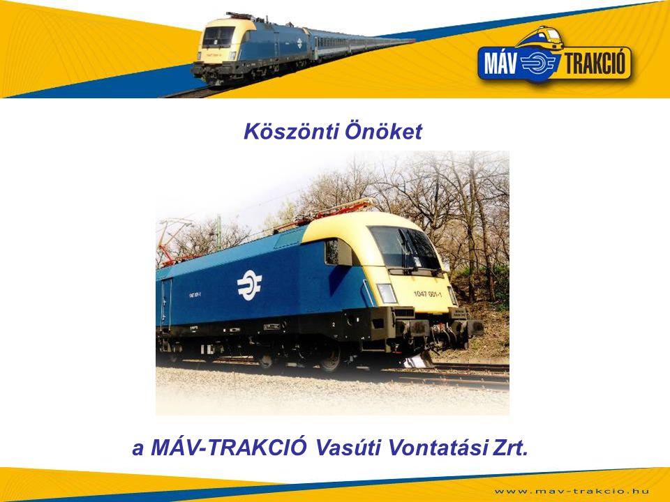 a MÁV-TRAKCIÓ Vasúti Vontatási Zrt.