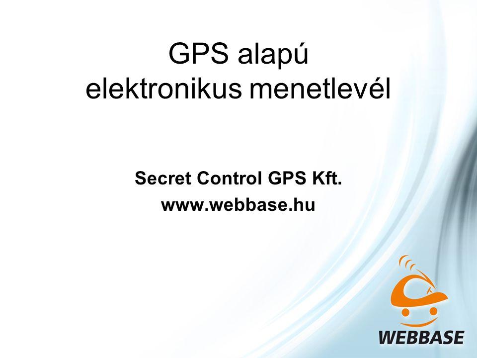 GPS alapú elektronikus menetlevél