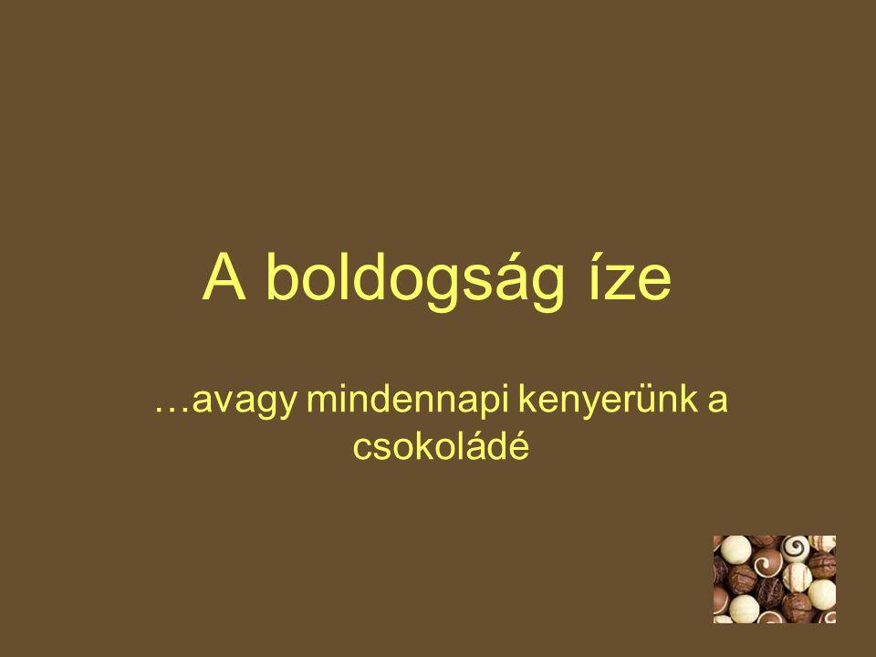 …avagy mindennapi kenyerünk a csokoládé
