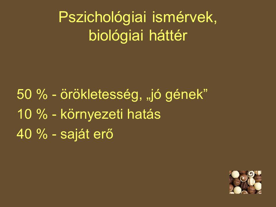 Pszichológiai ismérvek, biológiai háttér