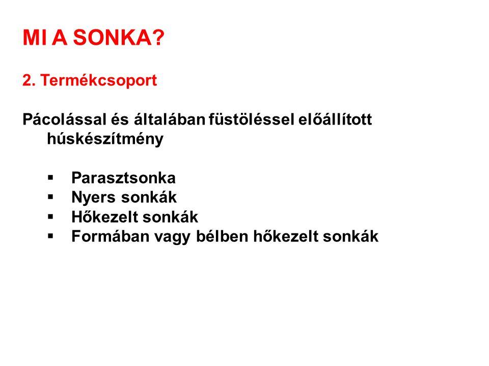 MI A SONKA 2. Termékcsoport