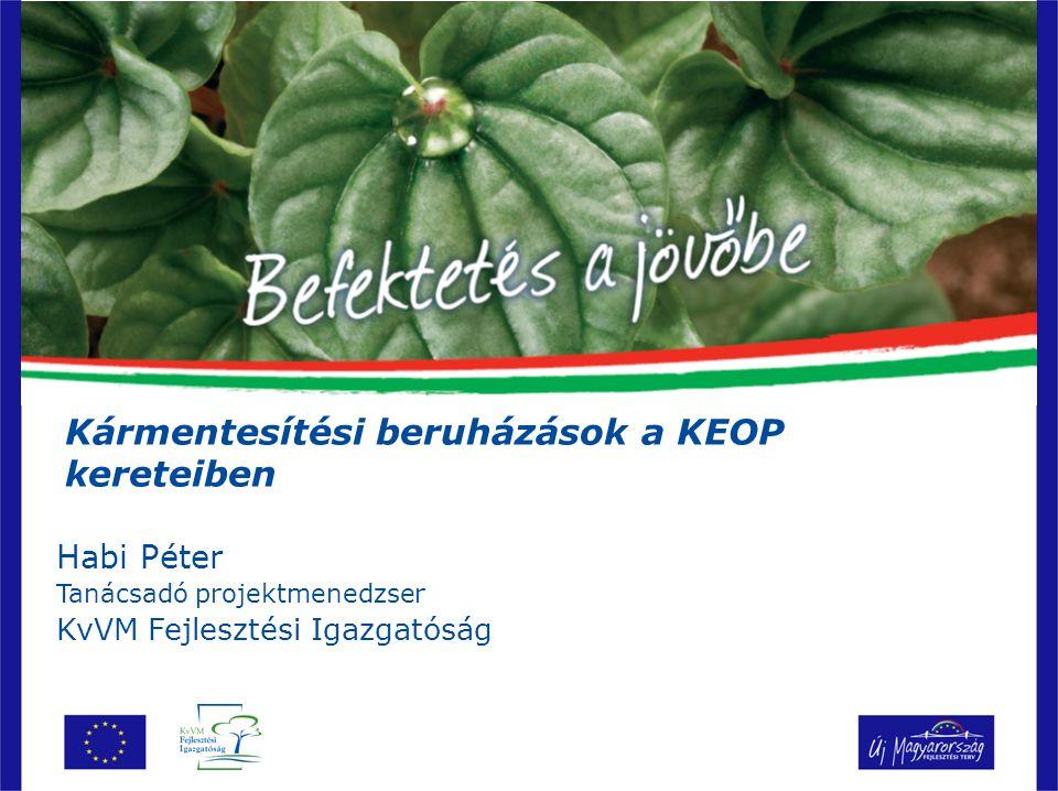 Kármentesítési beruházások a KEOP kereteiben