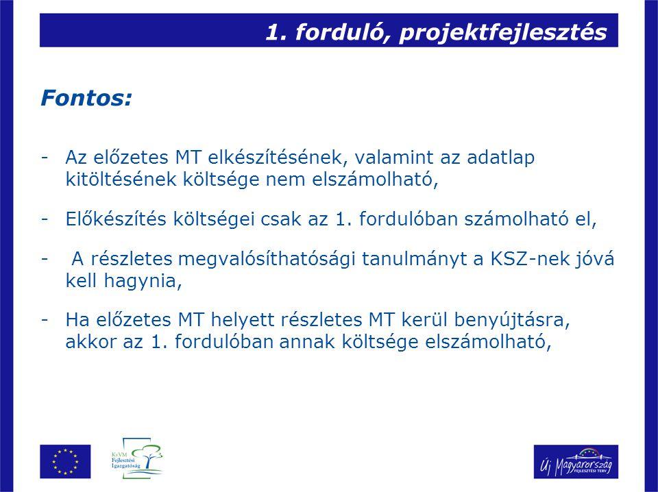 1. forduló, projektfejlesztés