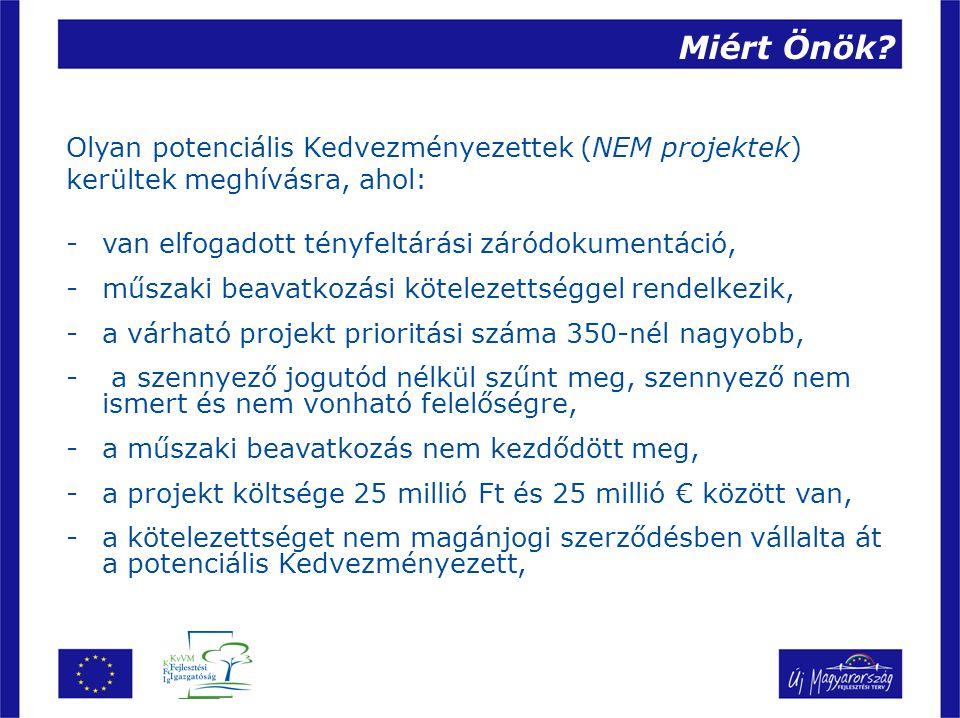 Miért Önök Olyan potenciális Kedvezményezettek (NEM projektek)