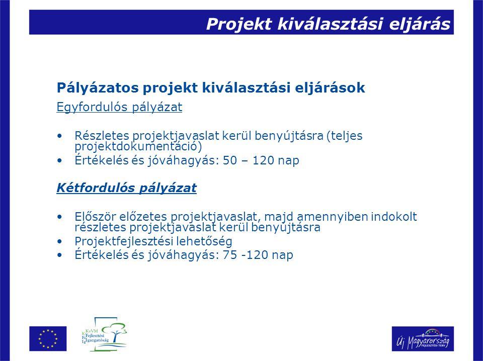 Projekt kiválasztási eljárás