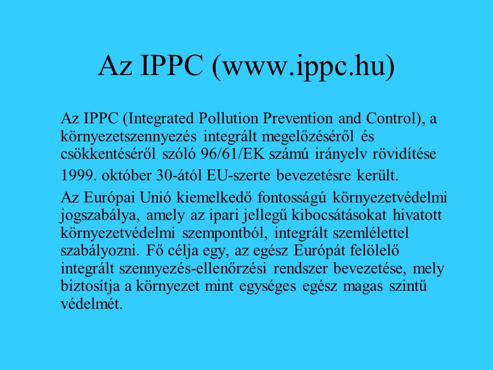 Az IPPC (www.ippc.hu)
