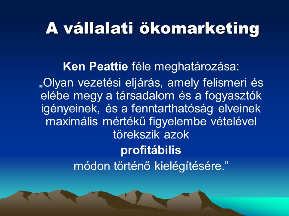 A vállalati ökomarketing