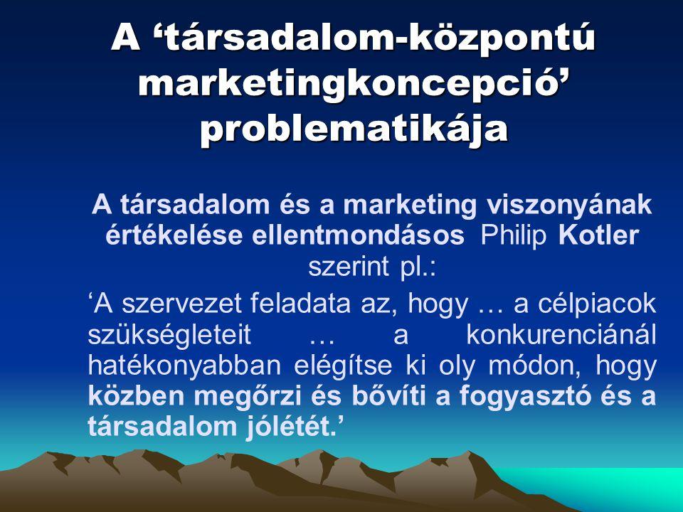 A 'társadalom-központú marketingkoncepció' problematikája