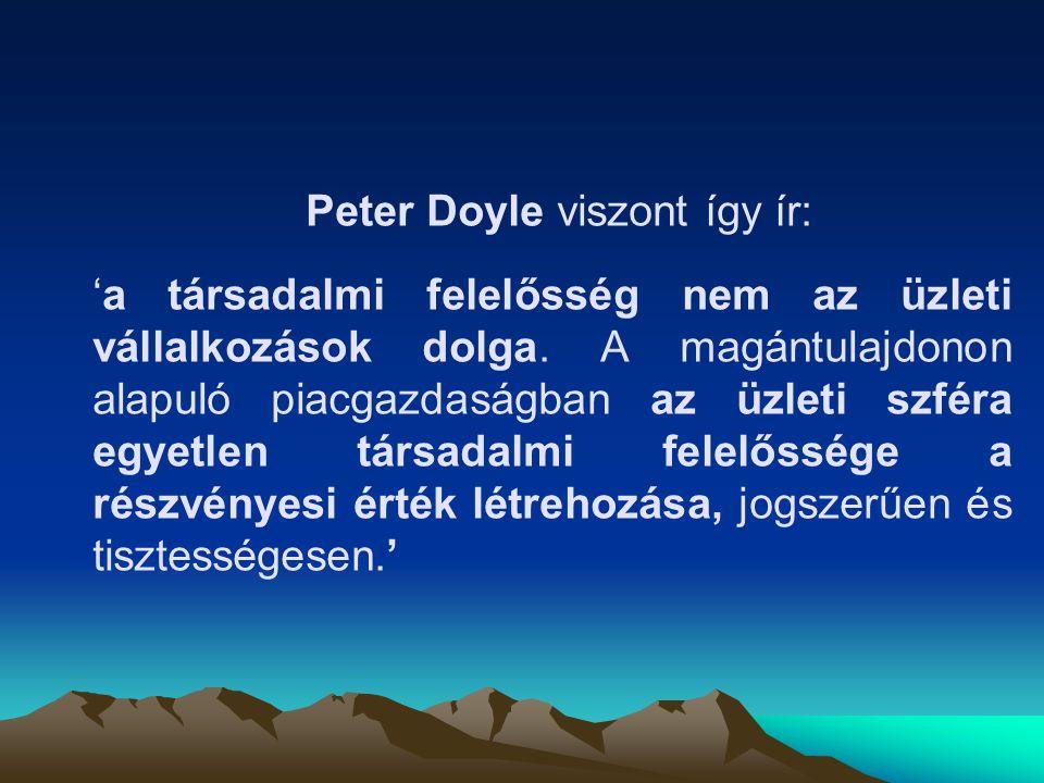 Peter Doyle viszont így ír: