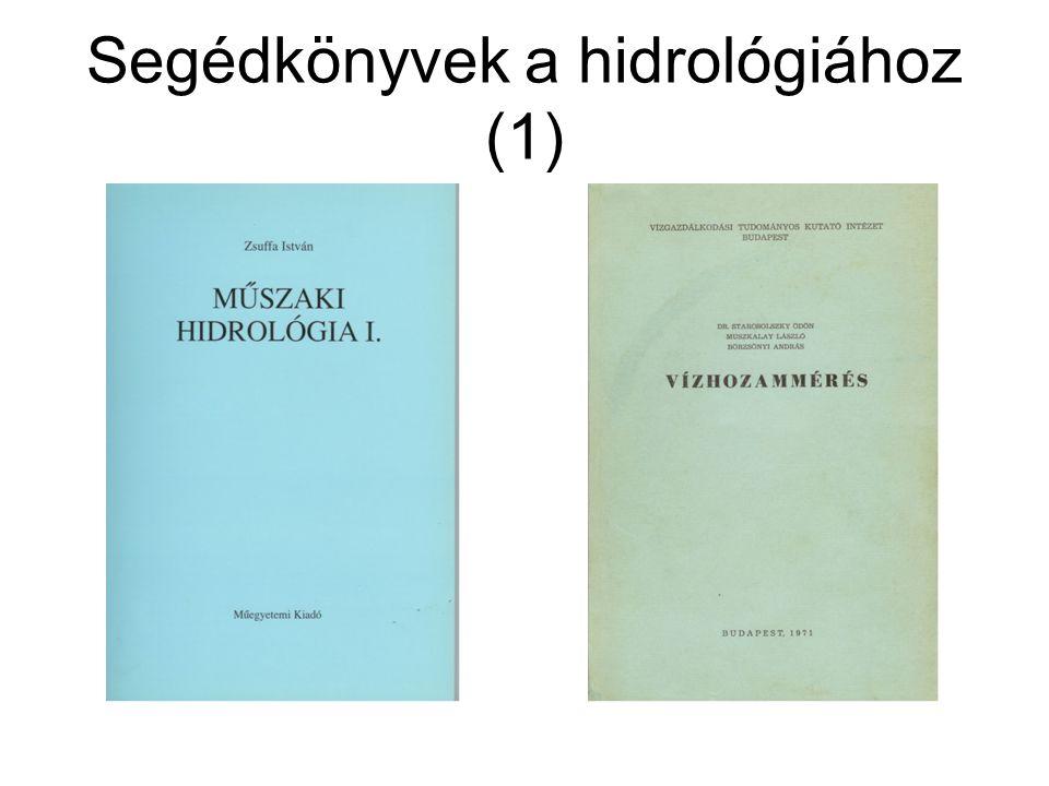 Segédkönyvek a hidrológiához (1)