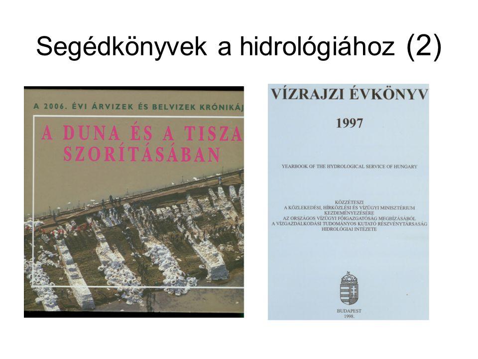 Segédkönyvek a hidrológiához (2)