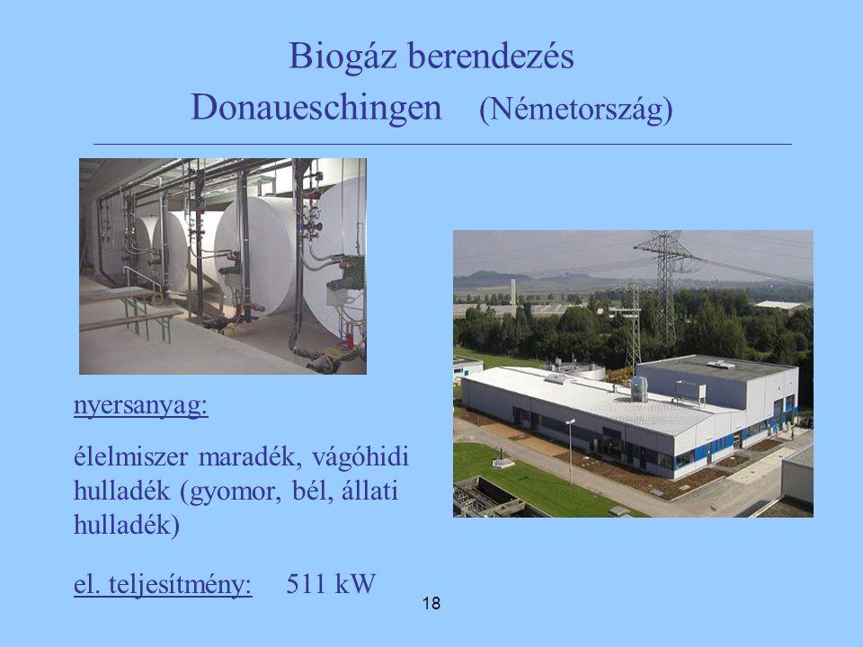 Biogáz berendezés Donaueschingen (Németország)