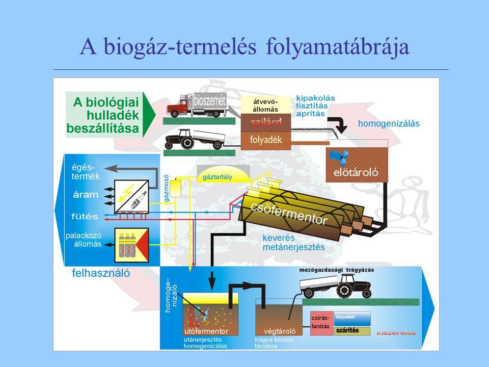 A biogáz-termelés folyamatábrája