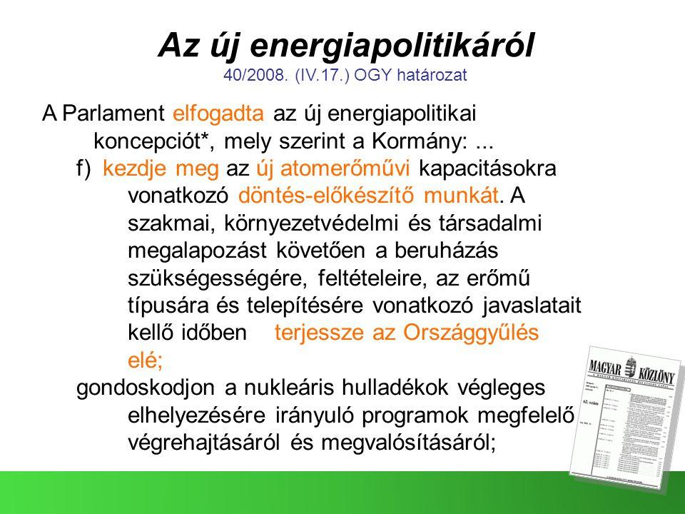 Az új energiapolitikáról
