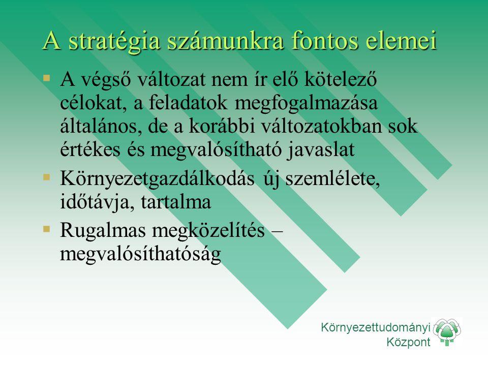 A stratégia számunkra fontos elemei
