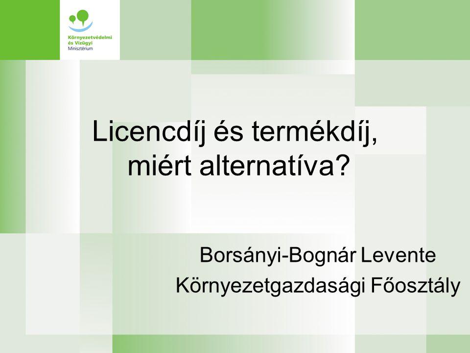 Licencdíj és termékdíj, miért alternatíva