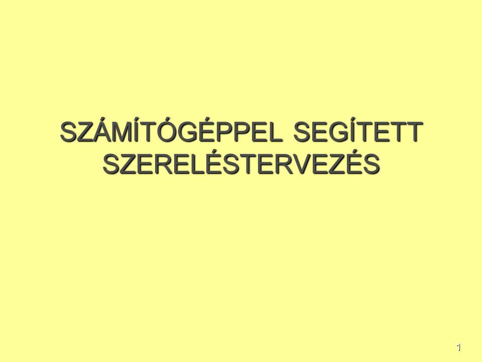 SZÁMÍTÓGÉPPEL SEGÍTETT SZERELÉSTERVEZÉS