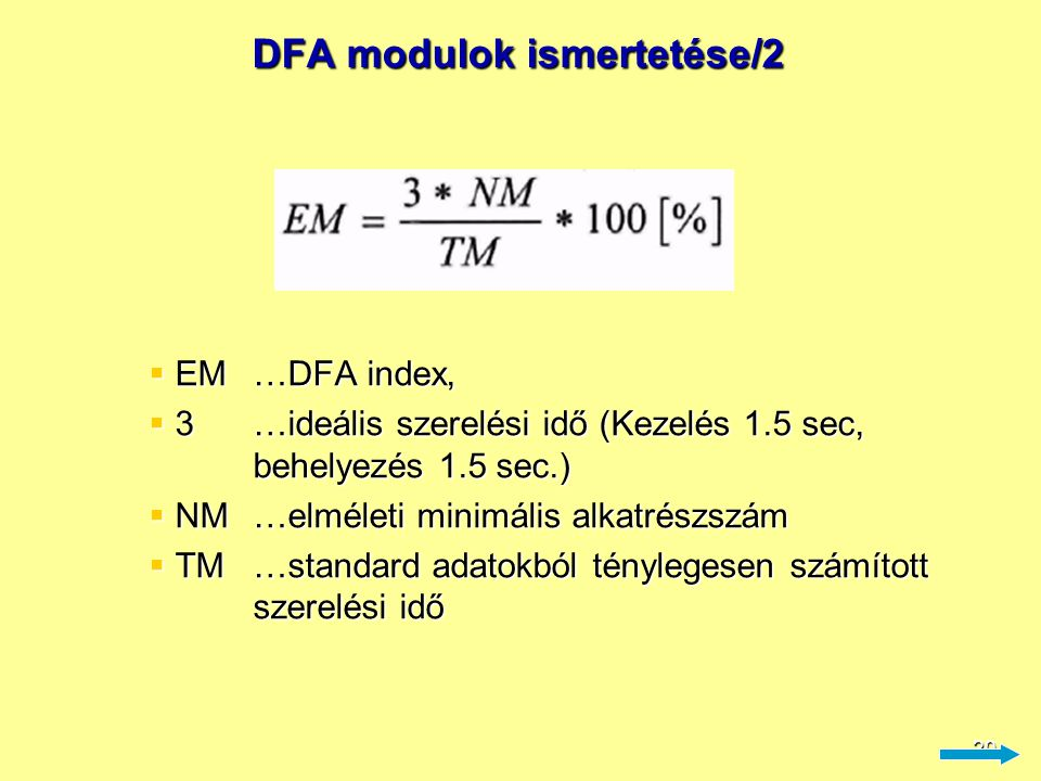 DFA modulok ismertetése/2
