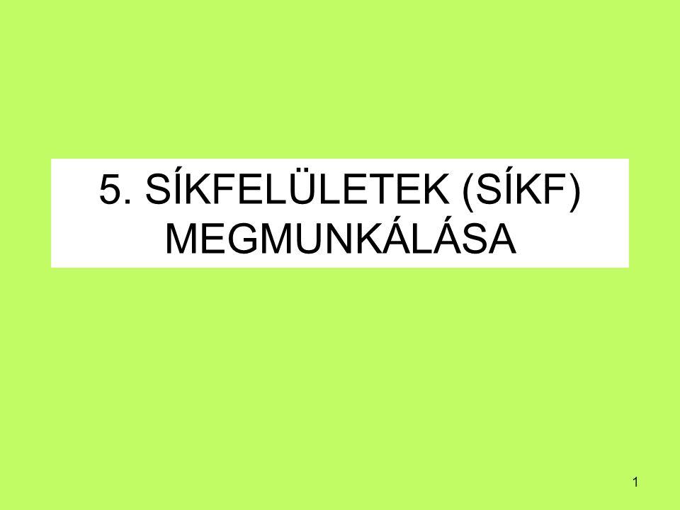 5. SÍKFELÜLETEK (SÍKF) MEGMUNKÁLÁSA