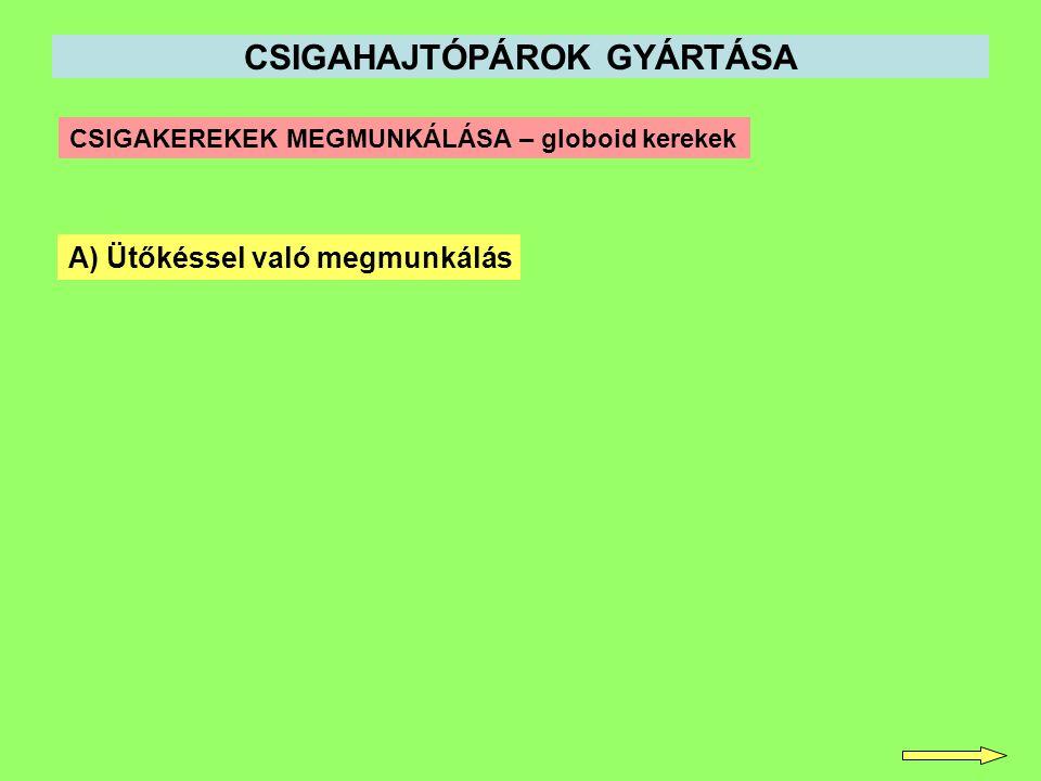 CSIGAHAJTÓPÁROK GYÁRTÁSA
