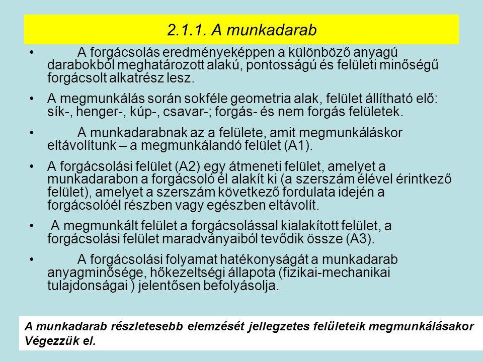 2.1.1. A munkadarab
