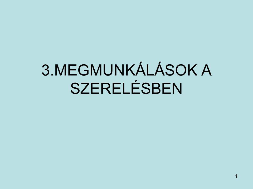3.MEGMUNKÁLÁSOK A SZERELÉSBEN