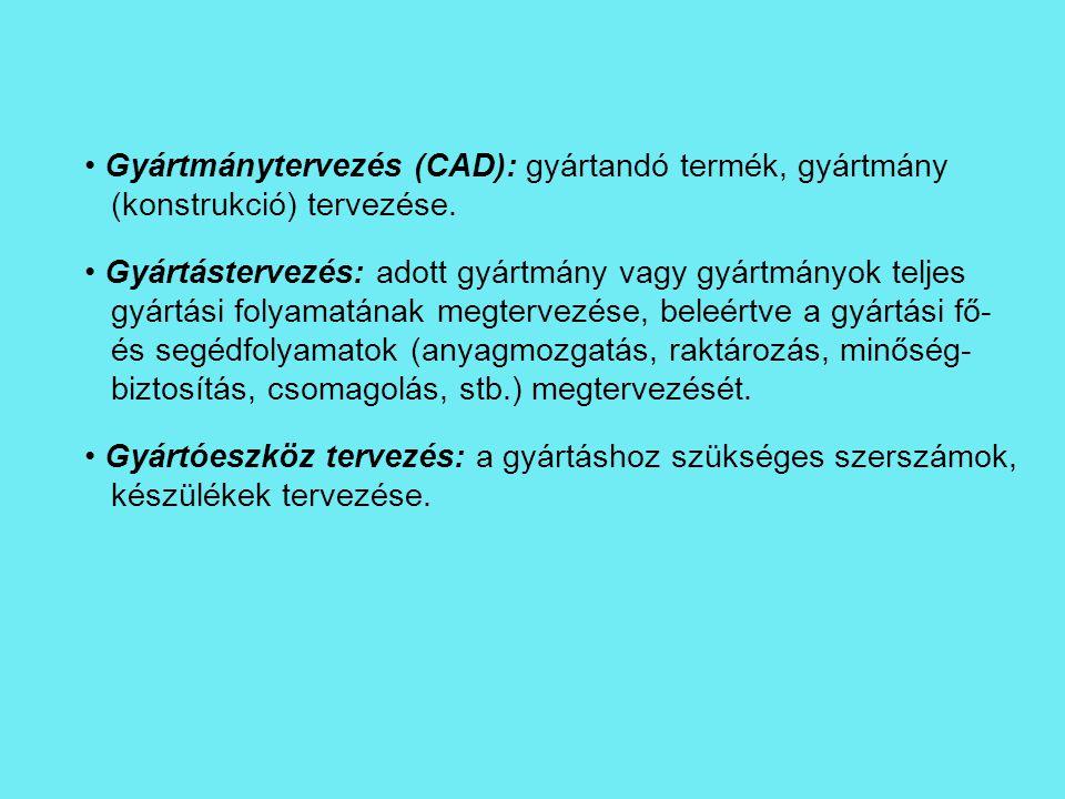 Gyártmánytervezés (CAD): gyártandó termék, gyártmány