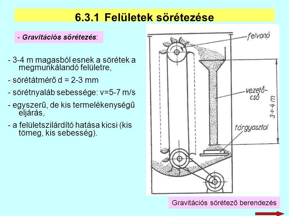 Gravitációs sörétező berendezés