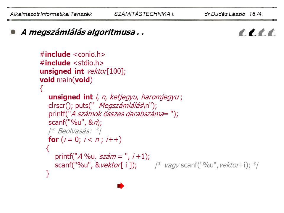 A megszámlálás algoritmusa . .
