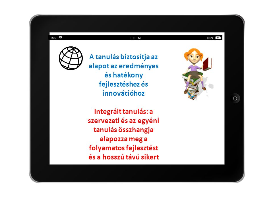 A tanulás biztosítja az alapot az eredményes és hatékony fejlesztéshez és innovációhoz