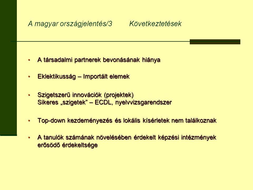 A magyar országjelentés/3 Következtetések