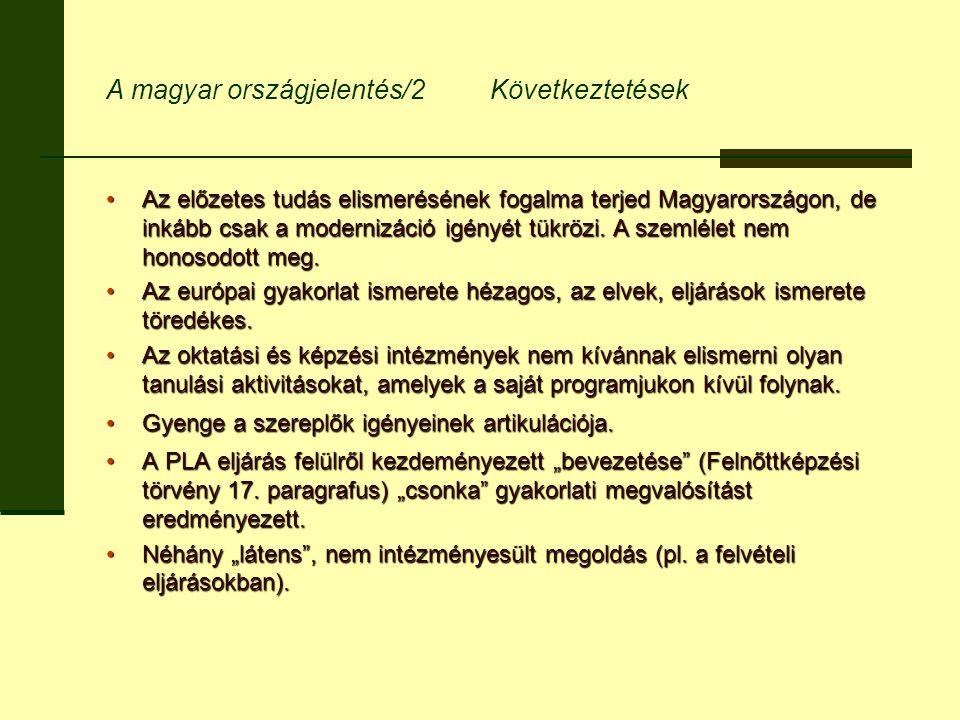 A magyar országjelentés/2 Következtetések