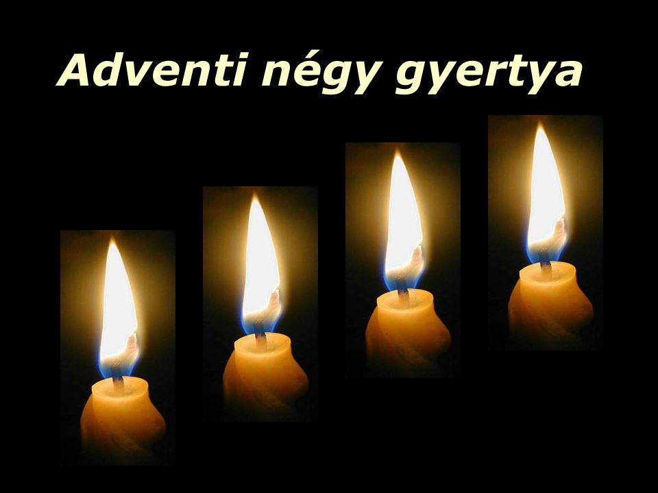Adventi négy gyertya