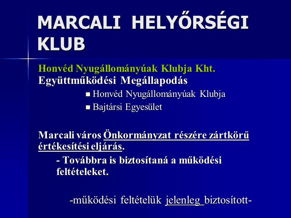 MARCALI HELYŐRSÉGI KLUB