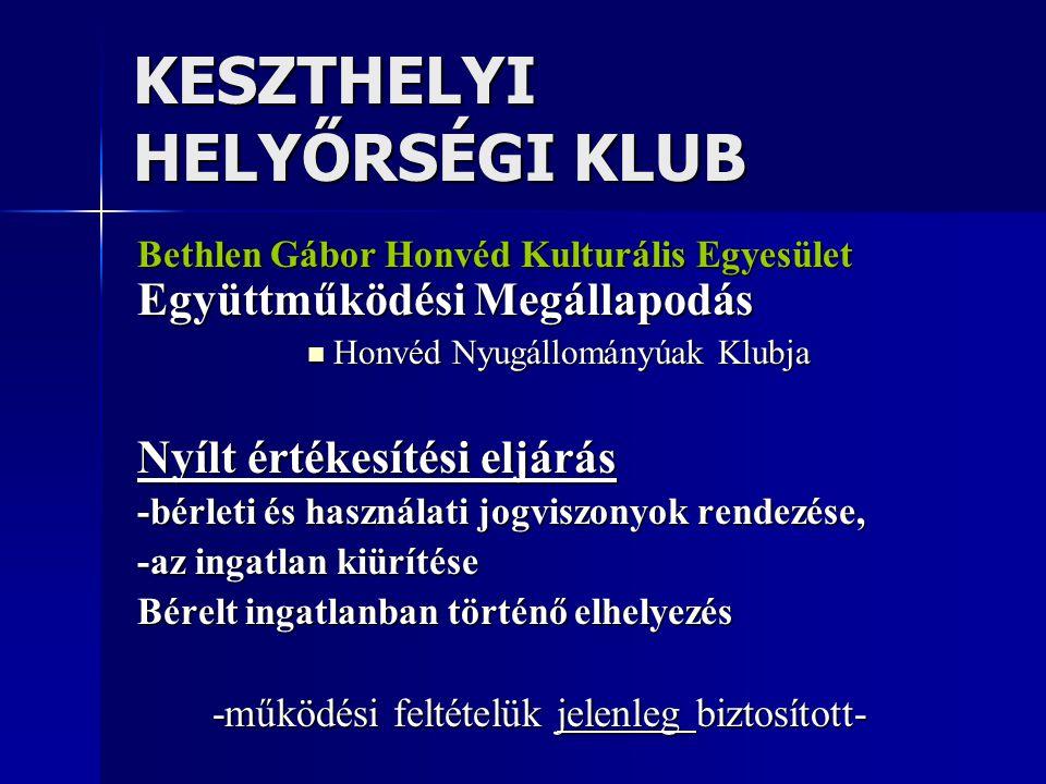 KESZTHELYI HELYŐRSÉGI KLUB
