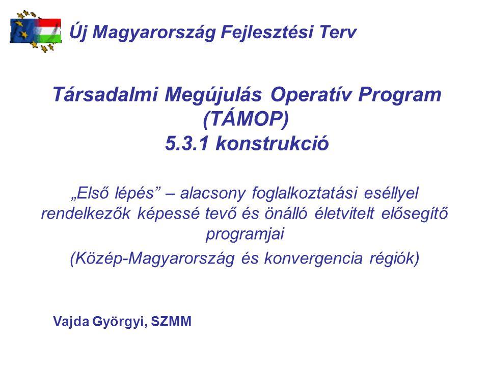 Társadalmi Megújulás Operatív Program (TÁMOP) 5.3.1 konstrukció