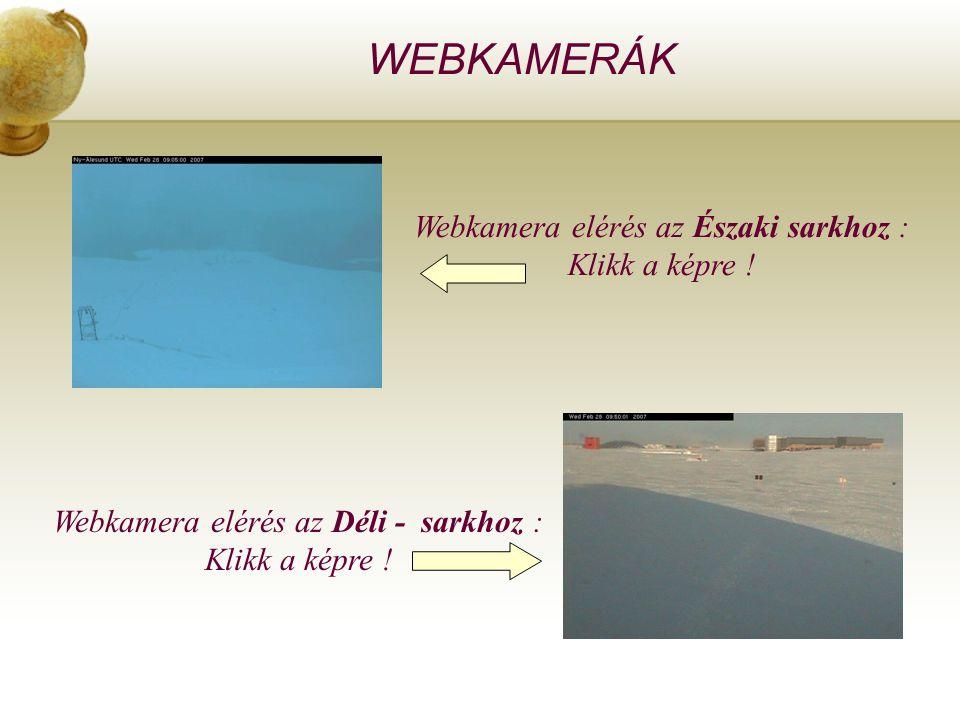 WEBKAMERÁK Webkamera elérés az Északi sarkhoz : Klikk a képre !