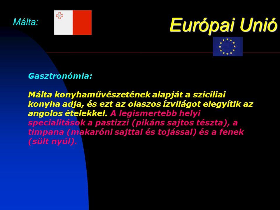 Európai Unió Málta: Gasztronómia: