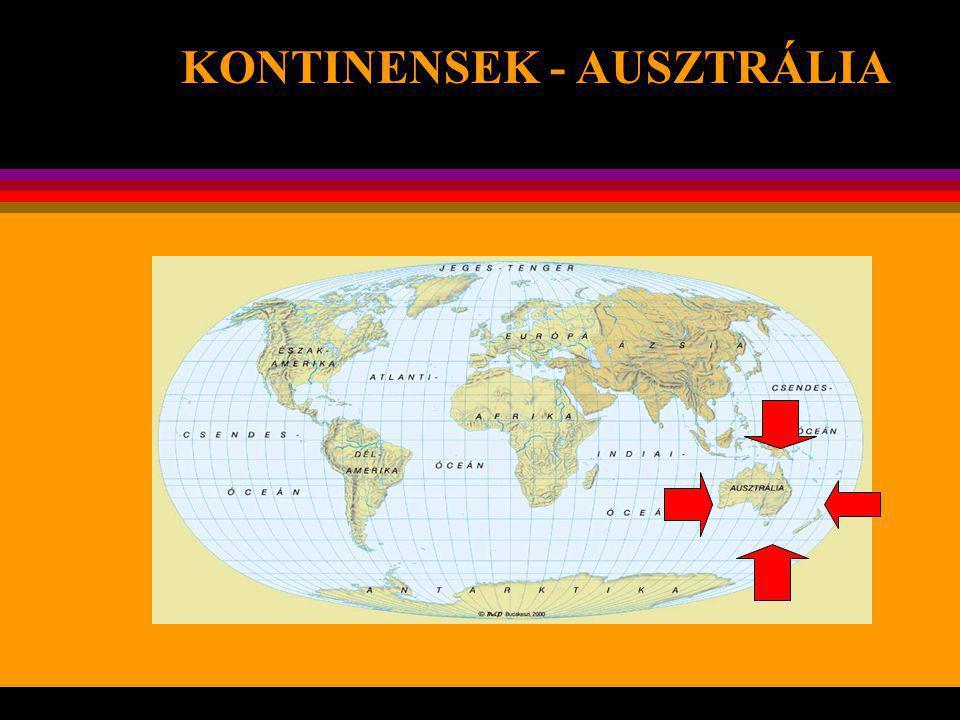 KONTINENSEK - AUSZTRÁLIA