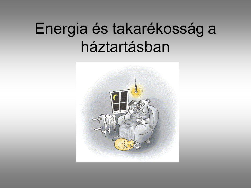 Energia és takarékosság a háztartásban