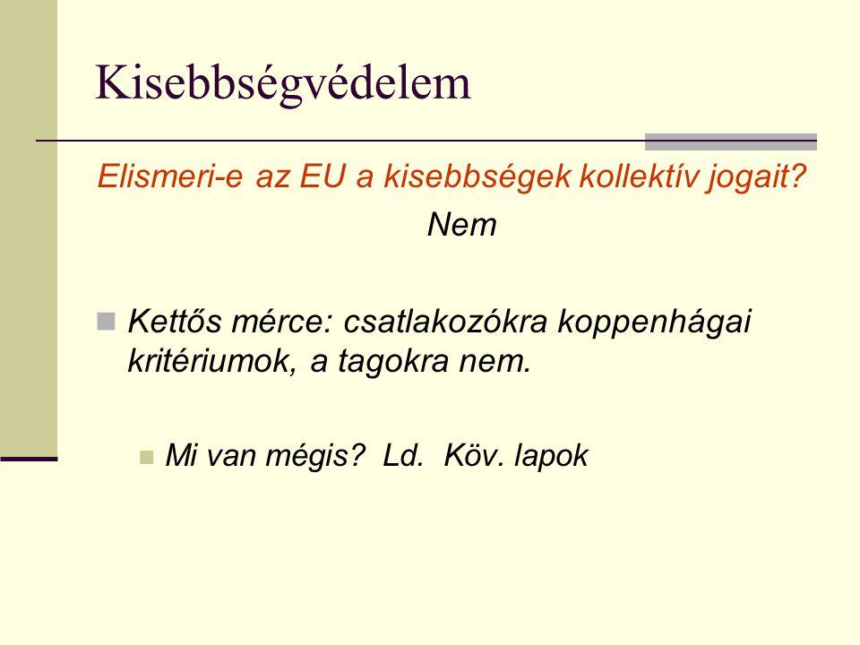 Elismeri-e az EU a kisebbségek kollektív jogait
