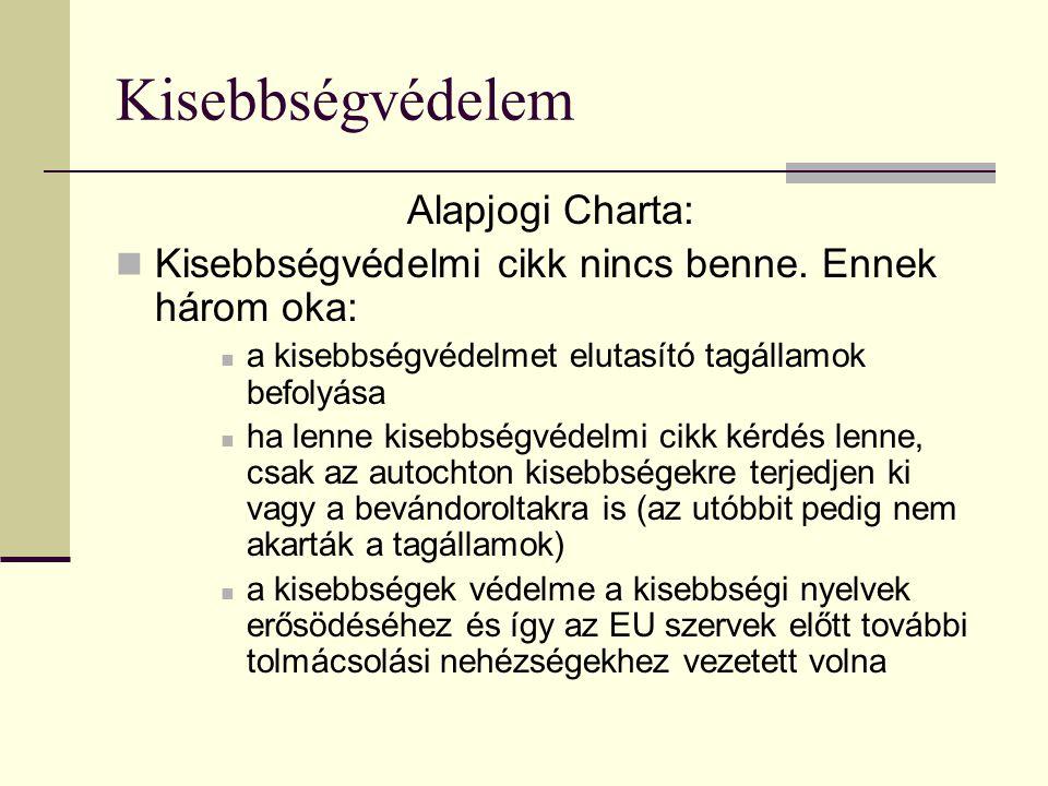 Kisebbségvédelem Alapjogi Charta: