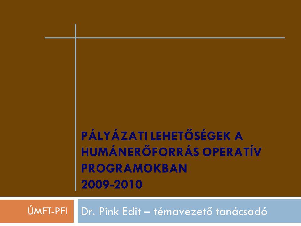 PÁLYÁZATI LEHETŐSÉGEK A HUMÁNERŐFORRÁS OPERATÍV PROGRAMOKBAN 2009-2010