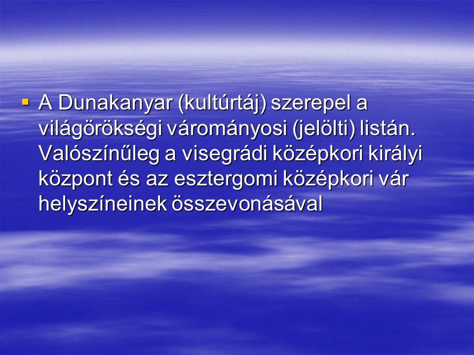 A Dunakanyar (kultúrtáj) szerepel a világörökségi várományosi (jelölti) listán.