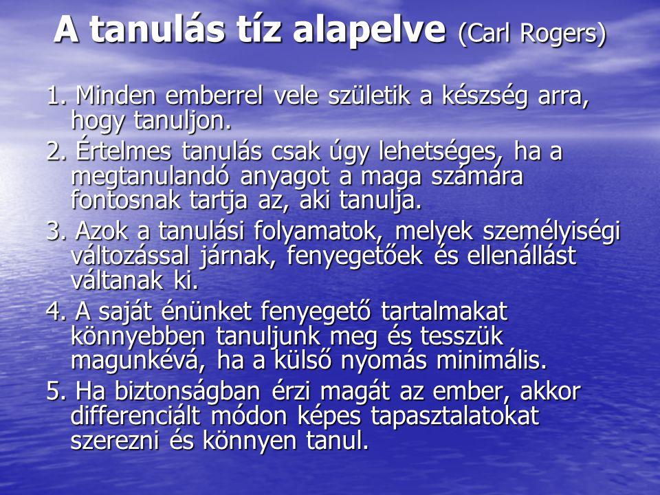 A tanulás tíz alapelve (Carl Rogers)