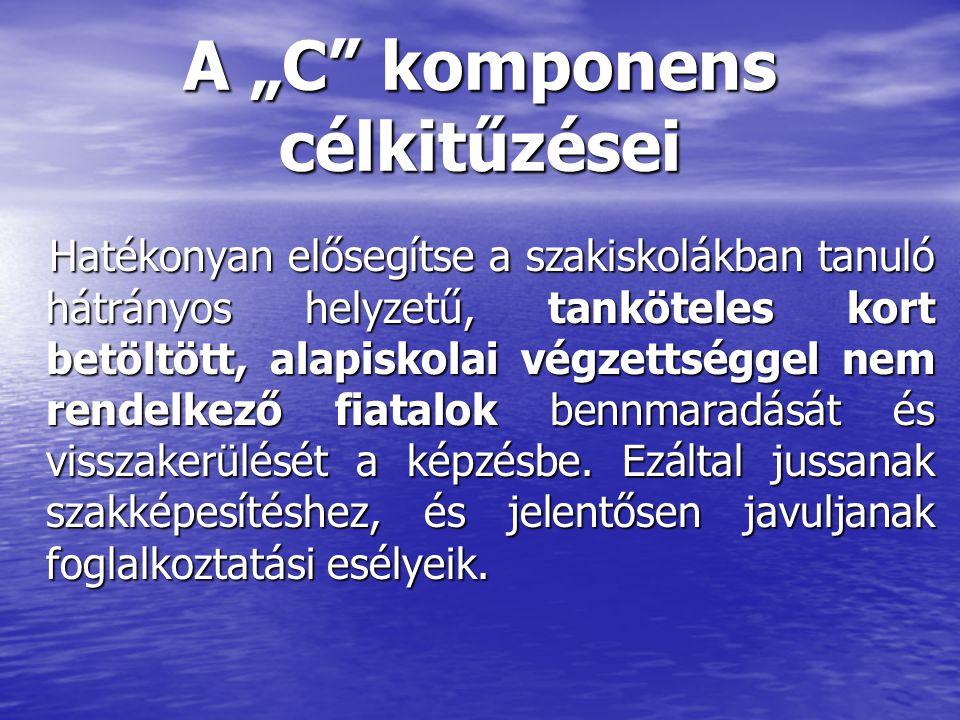 "A ""C komponens célkitűzései"