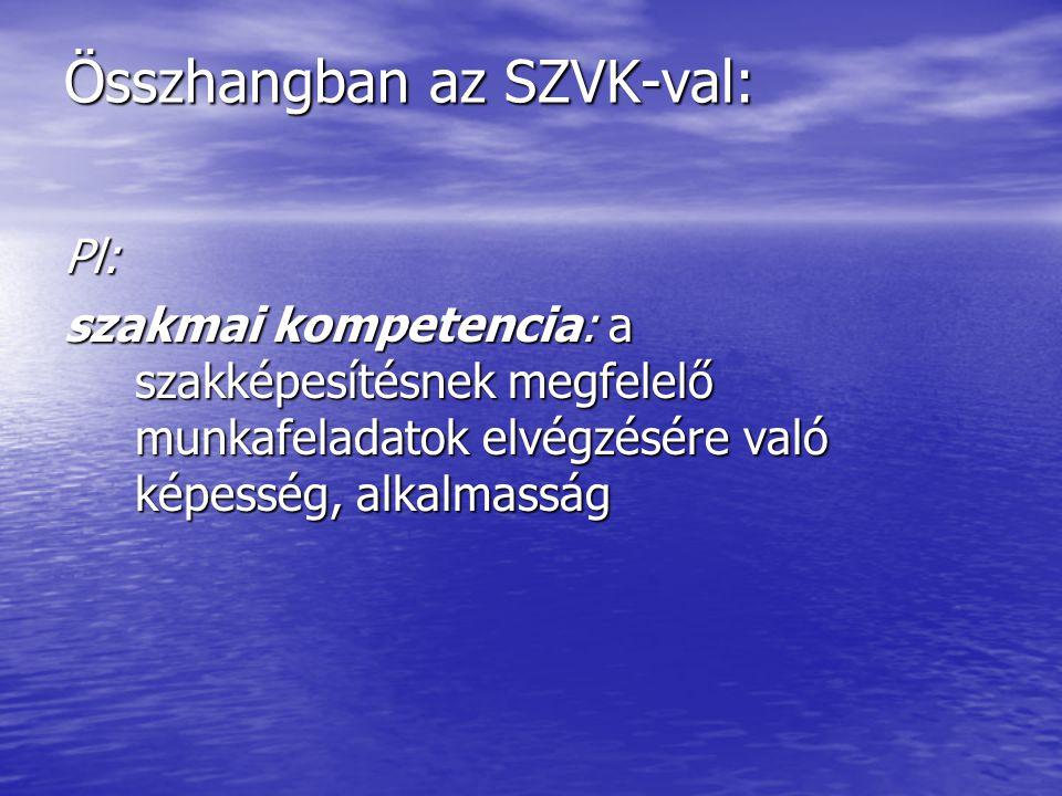 Összhangban az SZVK-val:
